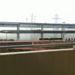 葛西クリーンタウン清新南ハイツのベランダから見える荒川