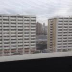 大島六丁目団地のベランダからの風景