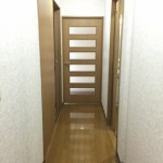 大島六丁目団地の廊下