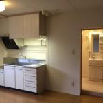 赤羽北二丁目団地のキッチンと洗面台