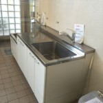 ハートアイランド新田二番外のペット用足洗い場
