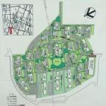 武蔵野緑町パークタウンの敷地内地図
