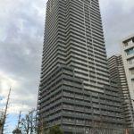 2号棟の外観です。38階建のタワーマンションです。