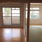 洋室、和室は襖で仕切られています